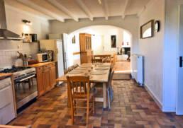 Vue de la cuisine du Gite du Menhir près de St Nazaire