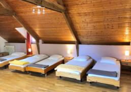 Chambre 5 lits simples de la location de vacances près de La Baule