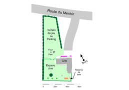 Plan de masse du Gîte du Menhir