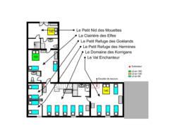 Plan de l'étage du Gîte du Menhir