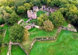 Vue aérienne du Chateau de Ranrouet