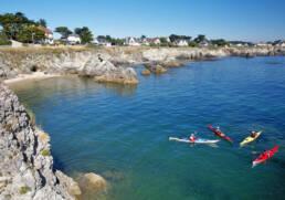Canoë sur la côte sauvage du Pouliguen