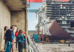 Visite guidée chantiers de l'Atlantique à Saint-Nazaire