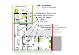 Plan RDC-Gite du Menhir en configuration 2 logements