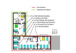 Plan etage-Gite du Menhir en configuration 2 logements