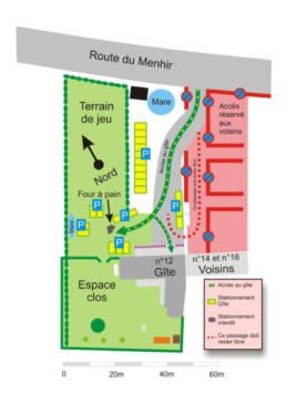 Plan du Parking Grand Gîte du Menhir